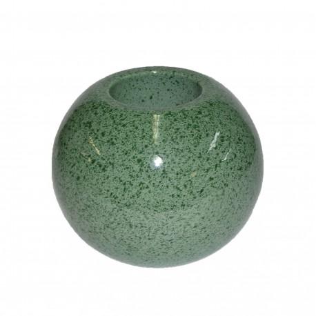 Vase céramique boule vert