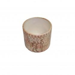 Cache-pot avec décor égyptien, petit modèle