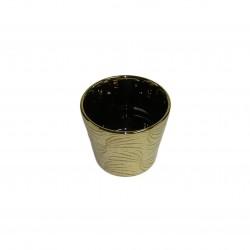 Cache-pot conique de couleur or brillant, petit modéle