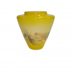 Vase en verre conique jaune