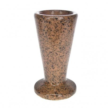 Vase céramique rond marron