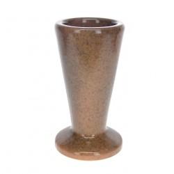 Vase céramique rond marron clair
