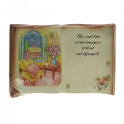 Livre en céramique décor couleur