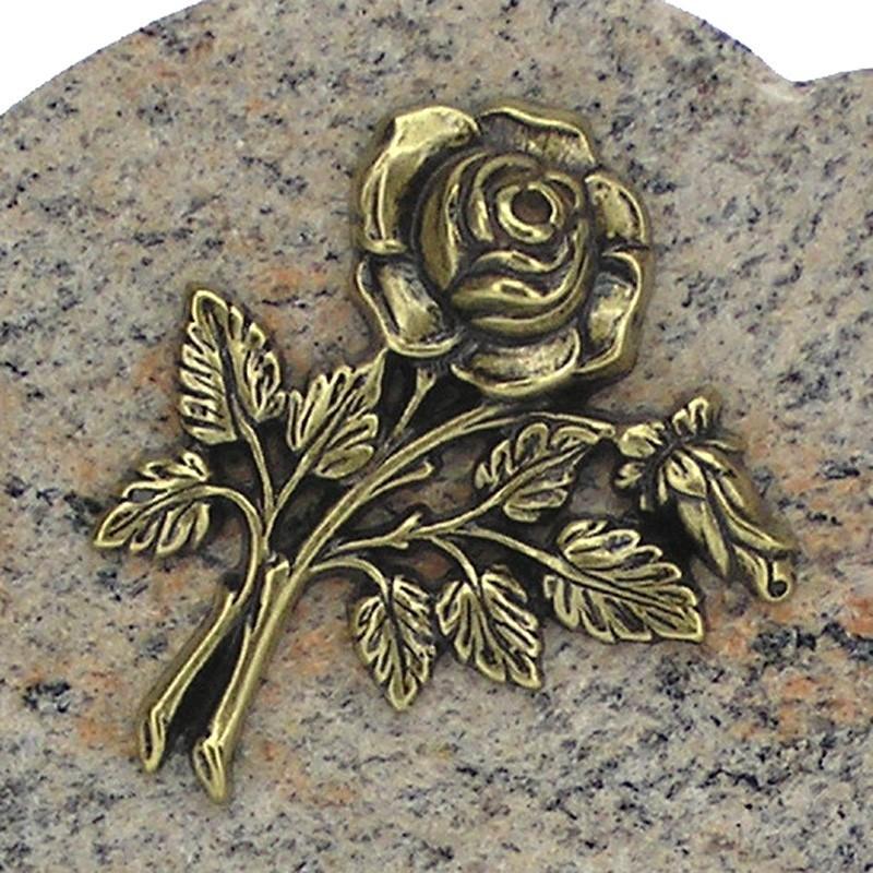 plaque fun raire pas cher en granit rose sur pieds bronze petite rose migennes fleurs. Black Bedroom Furniture Sets. Home Design Ideas