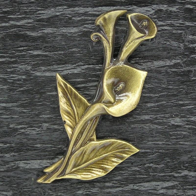 plaque fun raire en r sine noir sur pieds bronze arum migennes fleurs. Black Bedroom Furniture Sets. Home Design Ideas