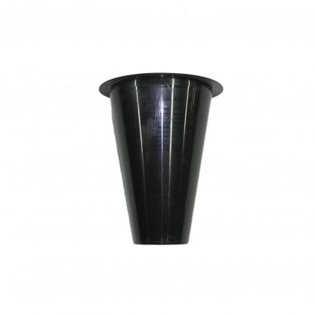 Vase en plastique conique, hauteur 15cm