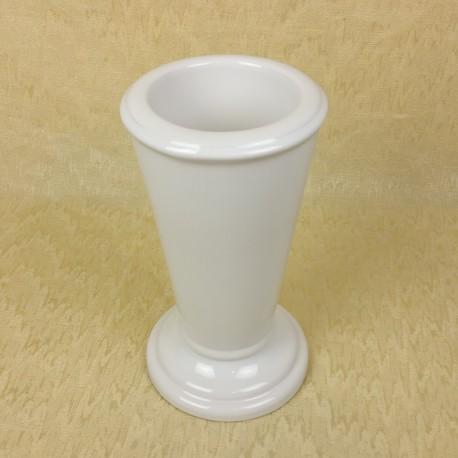 Vase céramique rond blanc