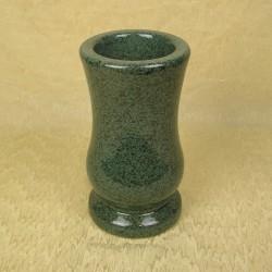 Vase funéraire rond vert