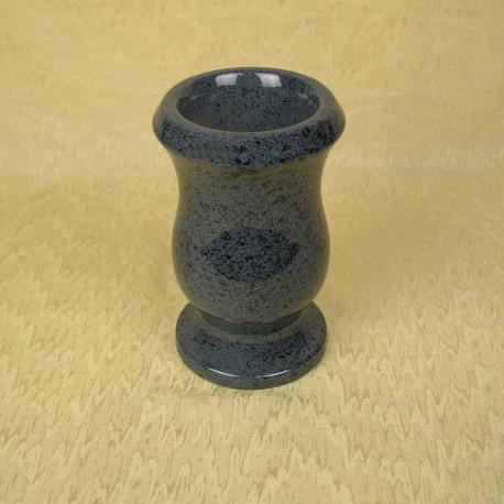 Vase funéraire rond bleu