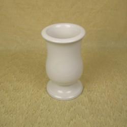 Vase funéraire rond blanc