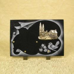 plaque funéraire granit noir
