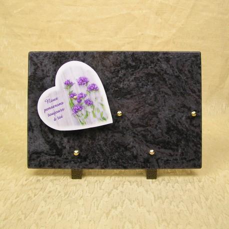 plaque funéraire en granit bleu