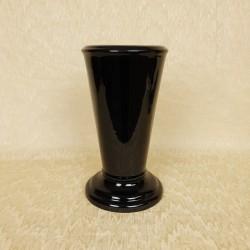 Vase céramique rond noir