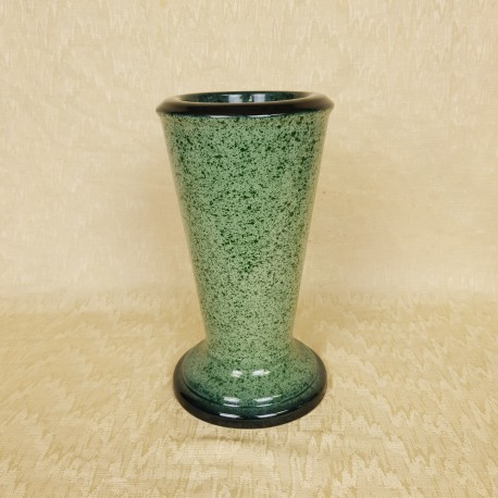 Vase céramique vert