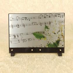 Plaque avec notes de musique