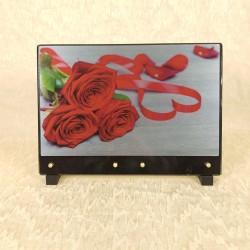 Plaque avec 3 roses rouge
