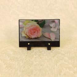 Plaque funéraire rose rose