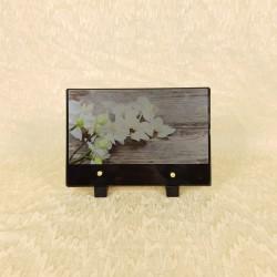 Plaque funéraire avec orchidée