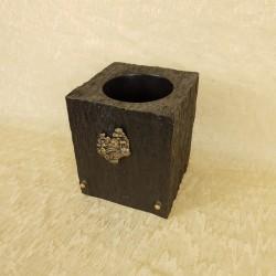 Vase résine carré