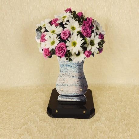 Plaque forme de vase