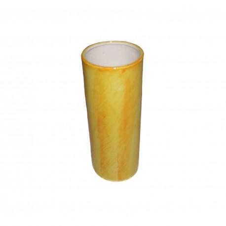 Vase cylindrique jaune gros