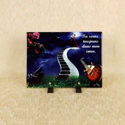 Plaque funéraire musique